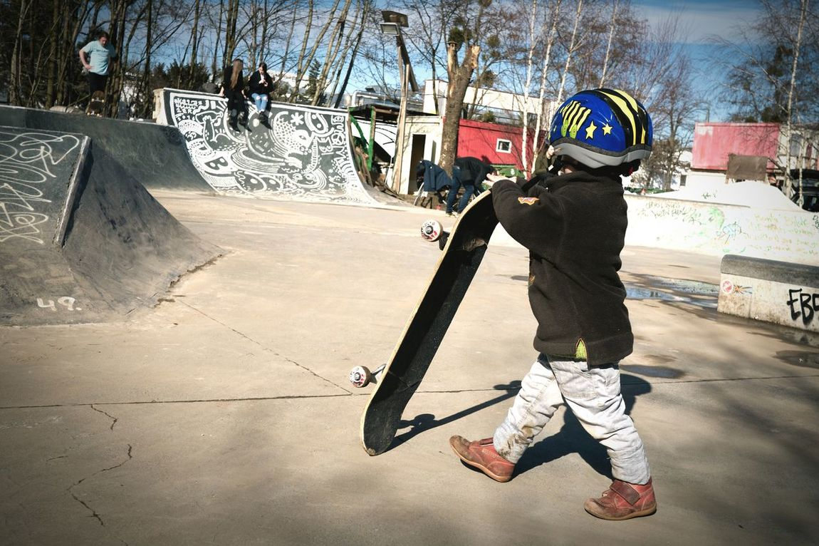 One Person Sport Sunlight Child People Outdoors Real People Day Youth Contrast Skating Skateboard Halfpipe Skatepark Miniature Growing Up Ambition Vision Goal Safetyfirst Tiny People