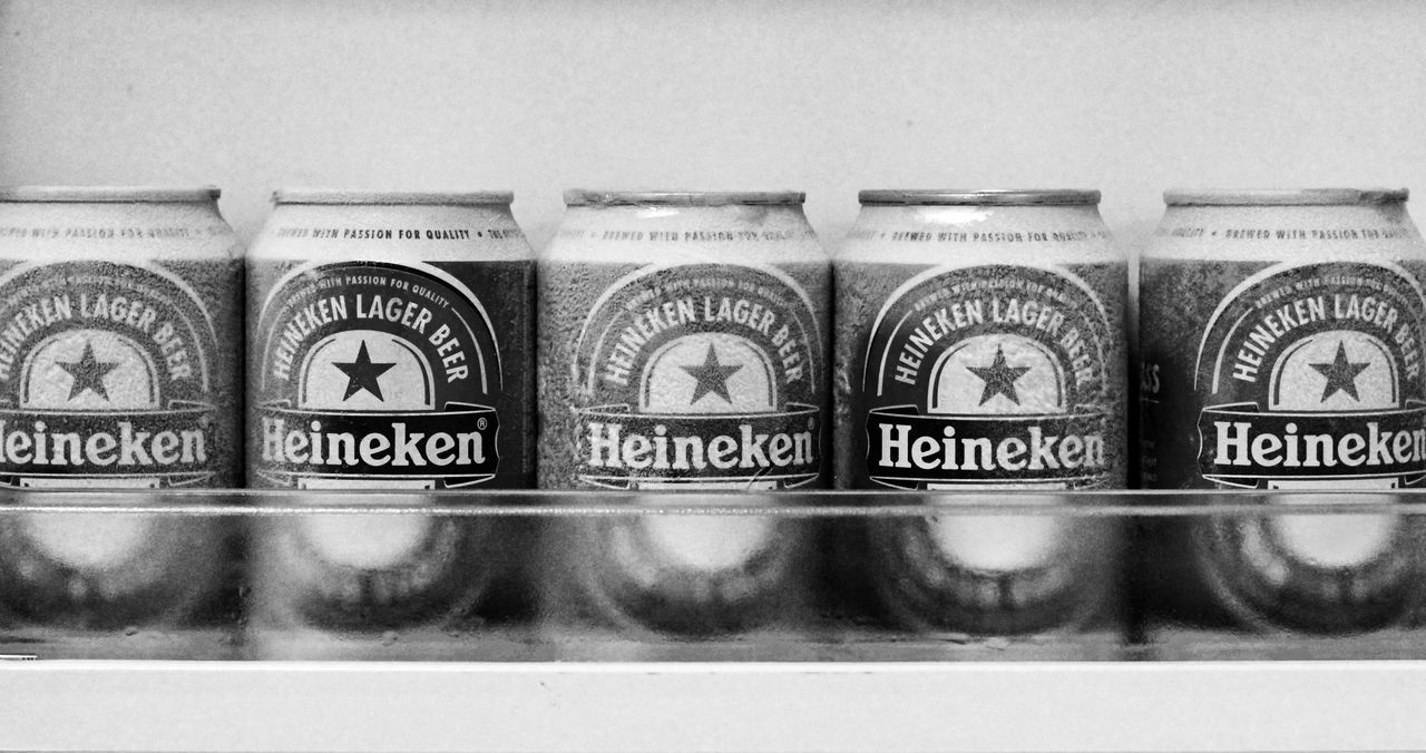 Close-up Eyeem Philippines Heineken Beer Beer In Can Heineken Beer Drinks Black And White Ice Cold Beer