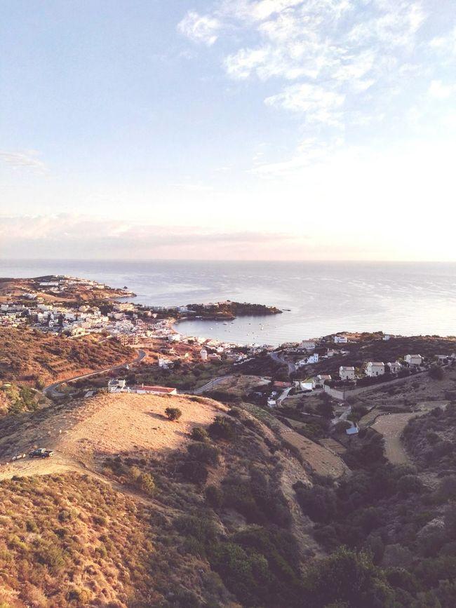 Rethimnon Coastline Sky Seascape Beauty In Nature High Angle View Crete Greece