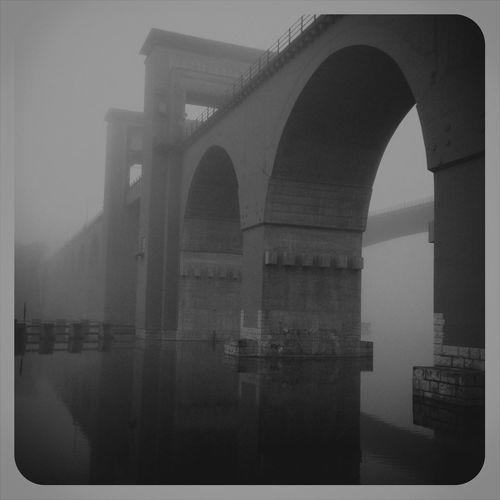 Bridge Water Mist Stockholm, Sweden Årstabron Good Morning
