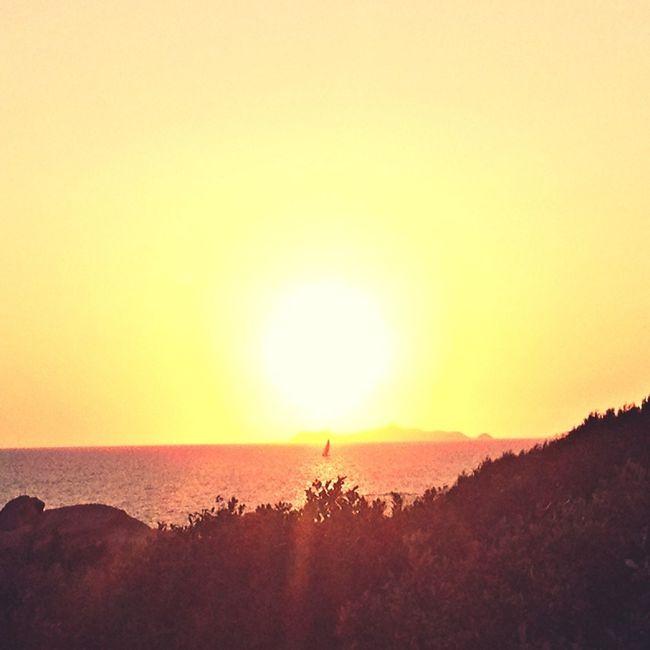 Sunset on Sanguinaires islands (Corsica) Enjoying The Sun