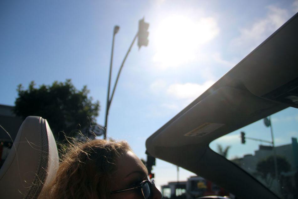 Summer exploring Beach Blonde California Car Close-up Convertible Day Domestic Animals Exploring Focus On Foreground Human Hair Losangeles Mammal Mode Of Transport Part Of Rear View Sea Sky Summer Sun Sunglasses Sunlight Transportation Wind