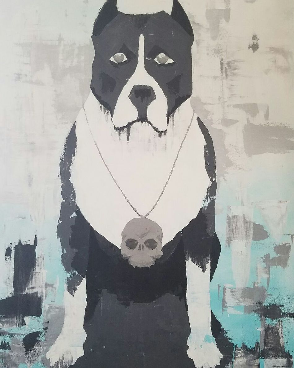 Bluepit Check This Out EyeEm Gallery Bestfriend❤ Acrylicpainting  Acrylic Gifted ArtWork Pitbull Bluetones