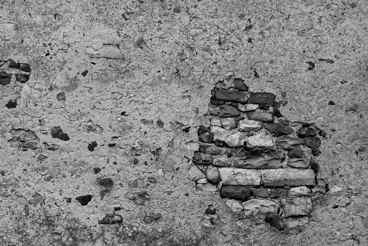 Backgrounds Black & White Bricks Close-up Day Full Frame Nature No People Outdoors