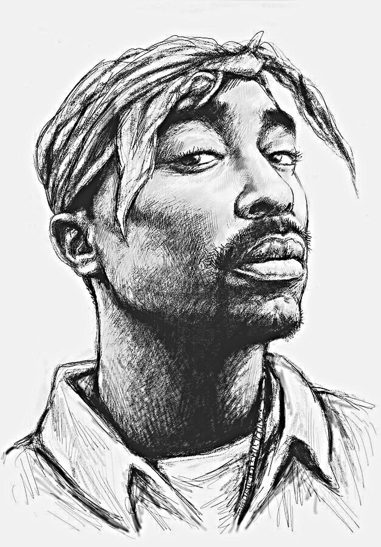 Tupac Amaru Shakur 2pac ♡ Makaveli LesaneParishCooks Outlawz Thug Life WestCoast Westside Pencil Drawing First Eyeem Photo