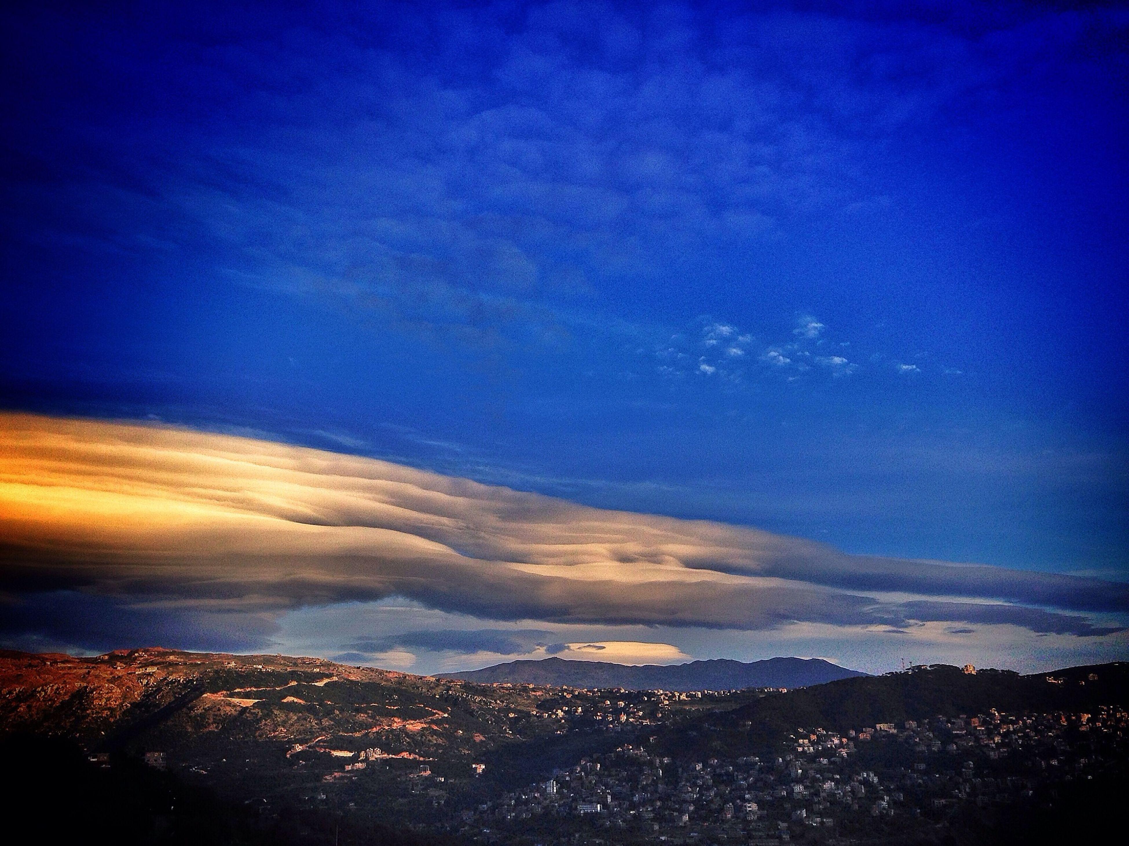 Clouds Sky Mountain Village