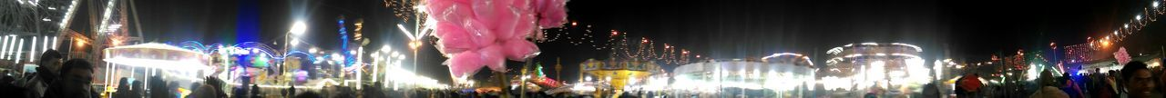 Decoration Illuminated Holiday - Event Pattern Curtain Multi Colored Panoramic Photography Panoramic View Lighting Equipment Backgrounds Celebration Ram Nagariya Festival Holy Water Ganga Ghat Carnival Festive Mood Crowded People