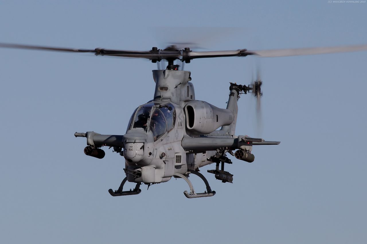 Aerospace Industry AH-1 AH-1Z Air Vehicle Army Attack Aviation Blue Sky Chopper Cobra Day Flying Helicopter Hellfire Marine Corps Marines Military Military Airplane Motion No People Outdoors Technology USMC Viper  Weapon