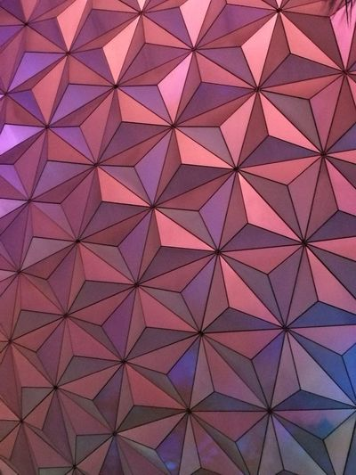Backgrounds Pattern Full Frame Architectural Feature Triangle Shape Architecture Abstract Indoors  No People Seamless Pattern Modern Day Epcot Sphere