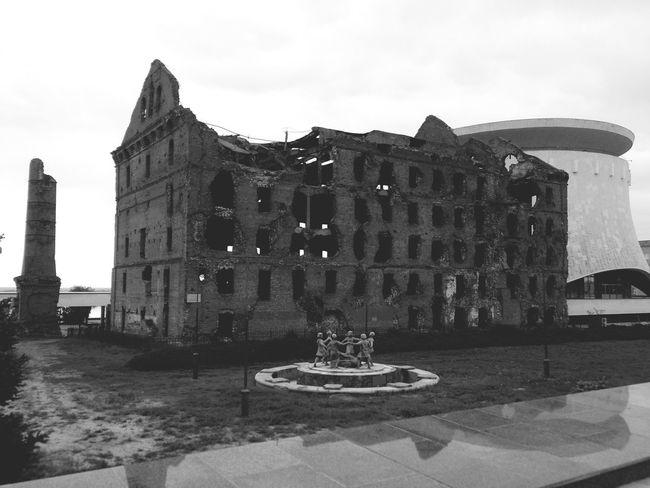 Museum Stalingrad Battle Stalingrad Memory Historical Building Russia, Volgograd The Great Patriotic War Russia Victory Blackandwhite