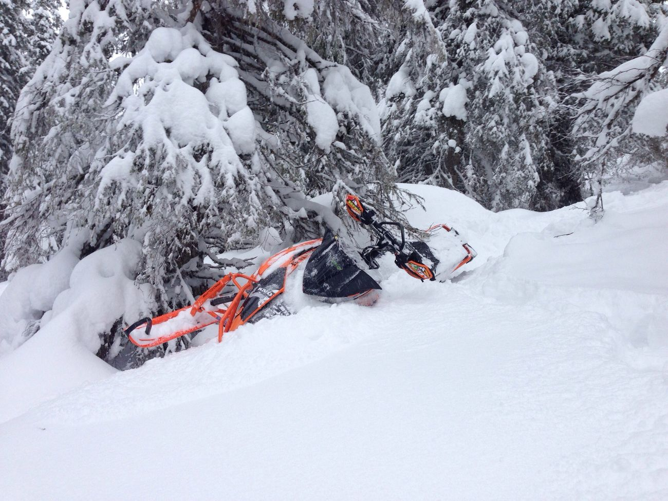 Mycket fin solokörning idag! Snowmobile Powder ArcticCat Sweden