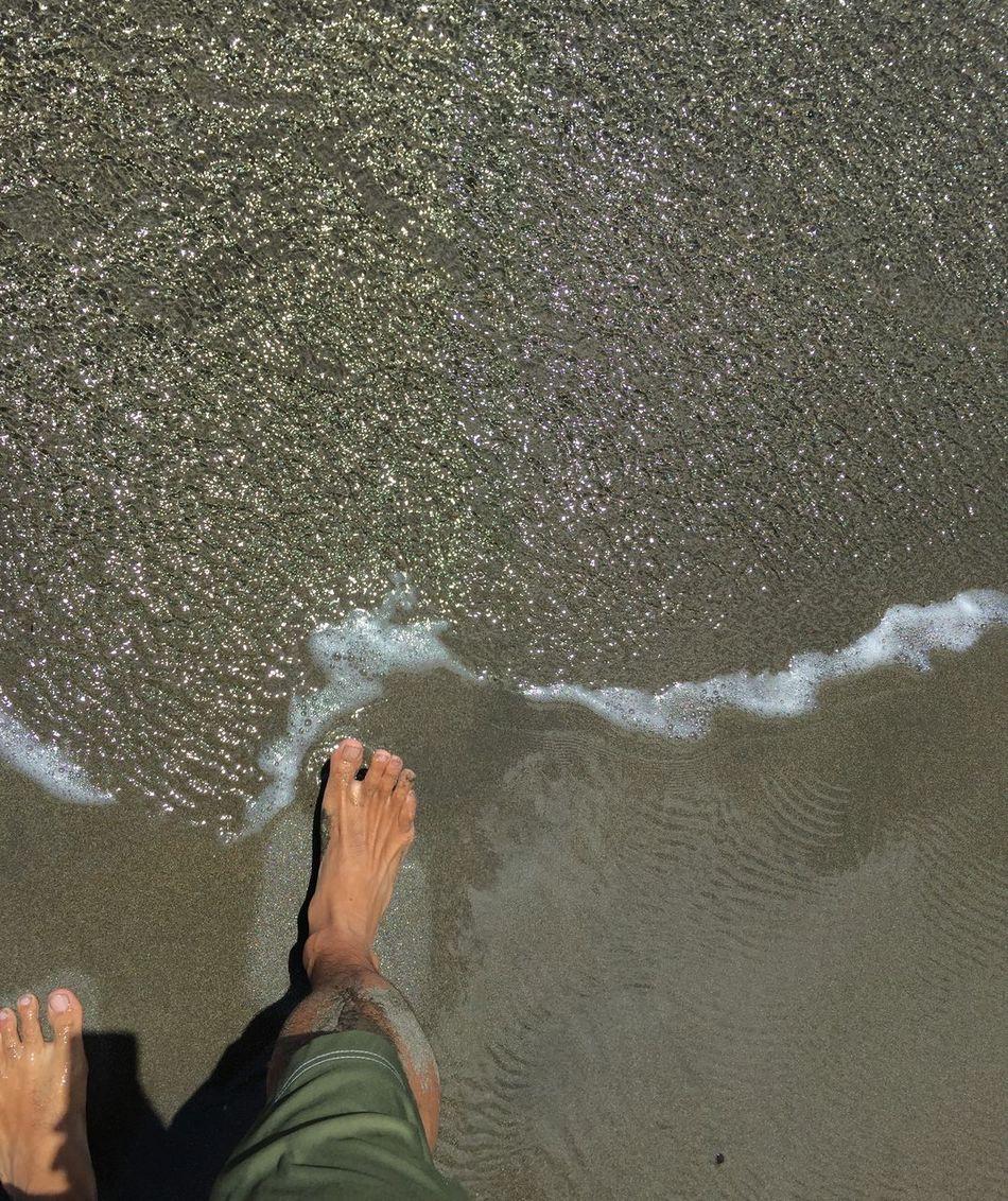 Barefoot Sunshine Beach Sea Relaxing Enjoying The Sun Getting A Tan