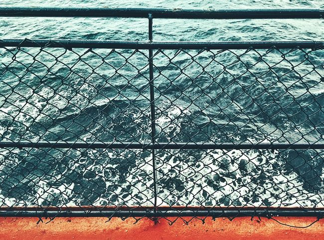 Hanging Out Taking Photos Check This Out Rail Ocean Colour Chain Ripples Wave Rip Tide