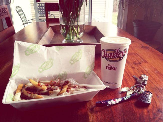 Enjoying French Fries