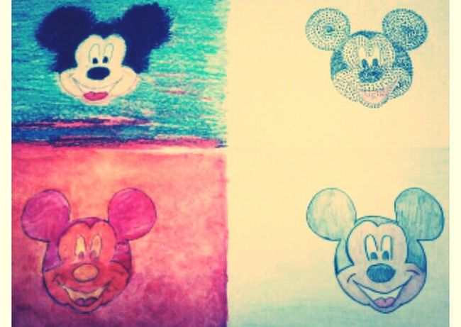my #mickeymouse I did in art.!