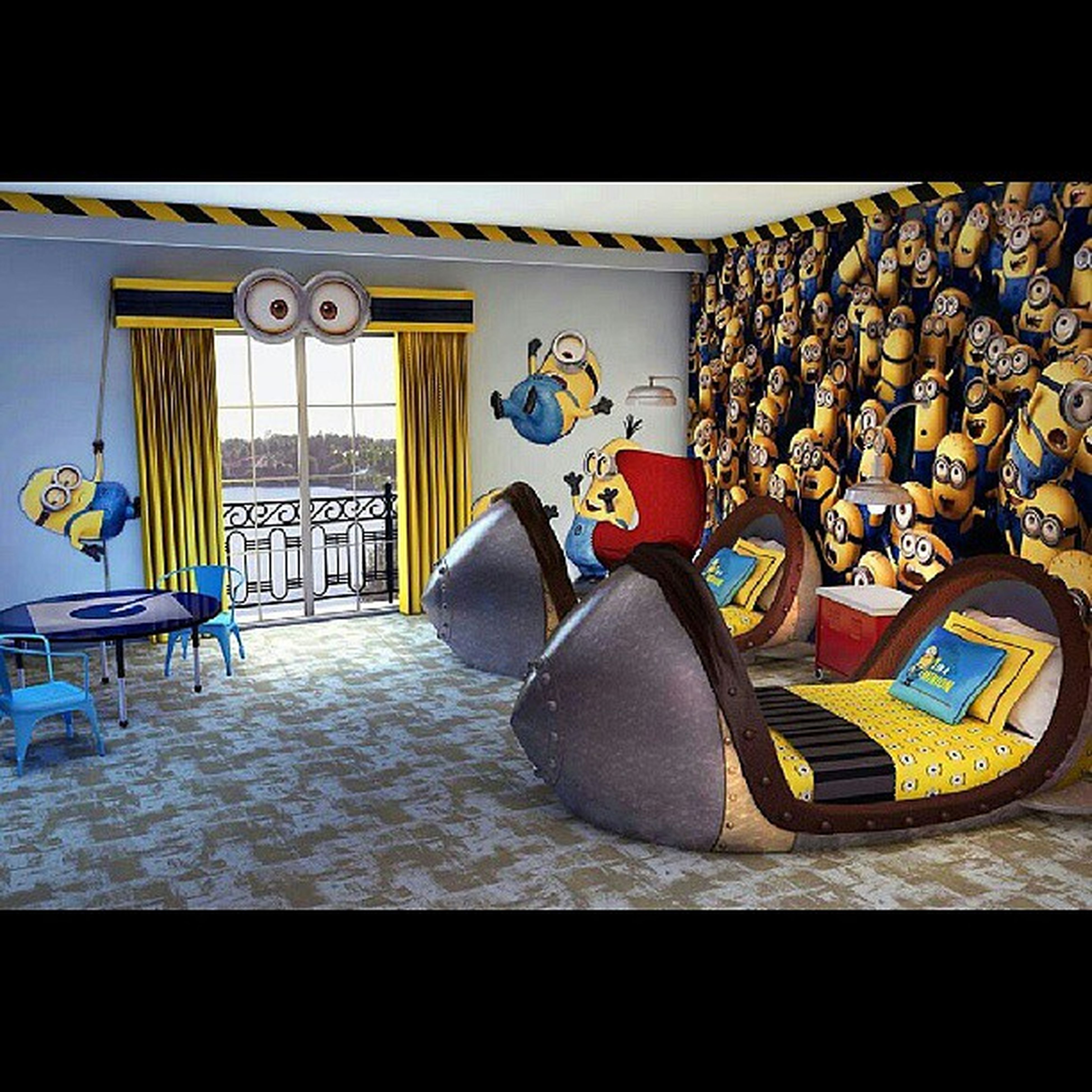 Ahhhh why is there a Minion themed resort room in Universal Studios Orlando?! Singapore should have one! Minions Despicableme2 Back2work USO