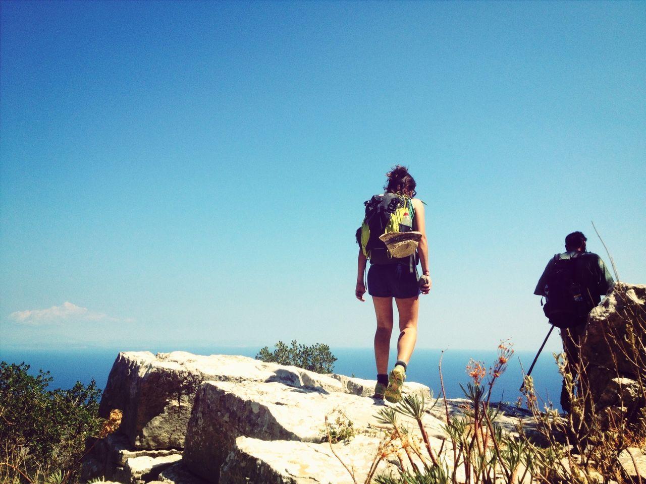 trekking with friends at the horizon Trekking Climbing Great Views Enjoying Life