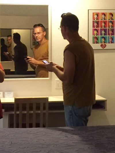 Mirror Mirror Fun Fun Leisure Activity Full Length Indoors  Lifestyles Connection Friendship Standing Young Men Communication Corporate Business Casual Clothing Looking Person Young Adult Well-dressed Person (null)Hanging Out Relaxing Taking Photos Enjoying Life Iphone 6 Plus