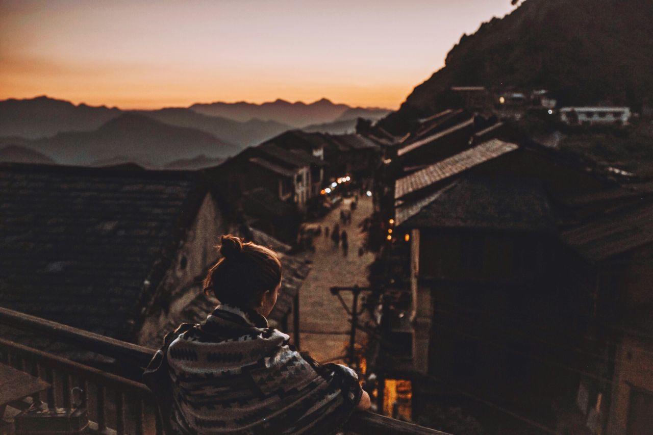 Nepal Sunset Town Bandipur Himalayas Outdoors Travel Destinations Travel Scenics Scenery Balcony Terrace