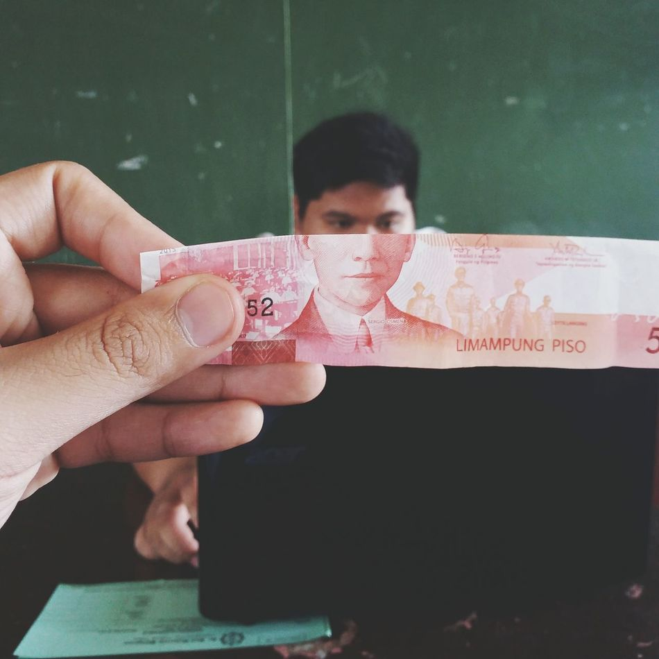 Never knew Playin' with my Money would be this fun.. Hahaha.. Eyeem Philippines Currency Classmate School Eyeemphotography EyeEm Gallery Minimalism Creative Showcase: November EyeEm Fun Hands At Work Red Moneyface Samsung Galaxy Camera Faces Paper View