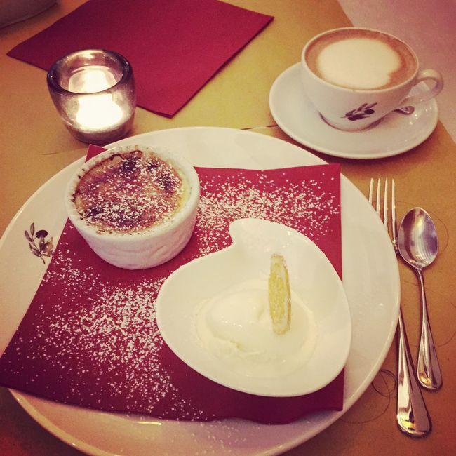 Collection Dessert Ice Cream Crème Brûlée Coffee Cappuccino