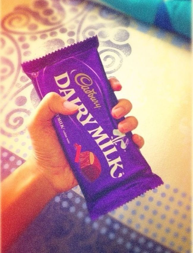Enjoying Chocolate