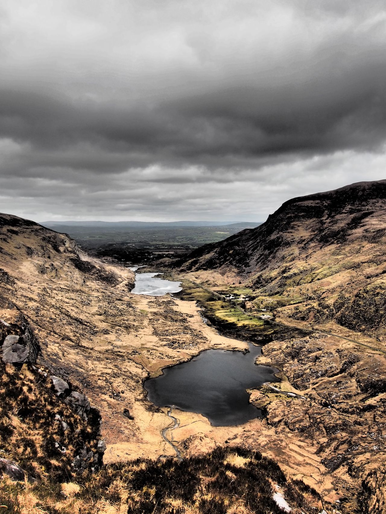 Lakes of Dunloe from Cnoc na dTarbh Co. Kerry Ireland Outdoors West Of Ireland Lake Lough Mountains Sky