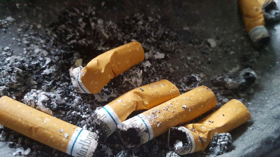 Close-up No People Ashes Cigarette Butts Marlboro Marlboro Smooth Menthols Cigarette