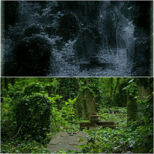 Before And After Edit Walking Around The Cemetery Bristol Uk Black And White Ghostly Image Heavy Edits Rundown Cemetery Just For Fun👻👀