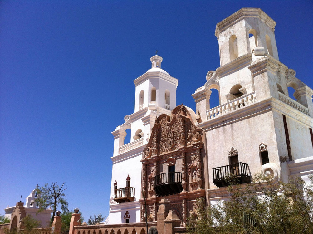 Sacred Places at San Xavier del Bac Mission by Vicki Donk