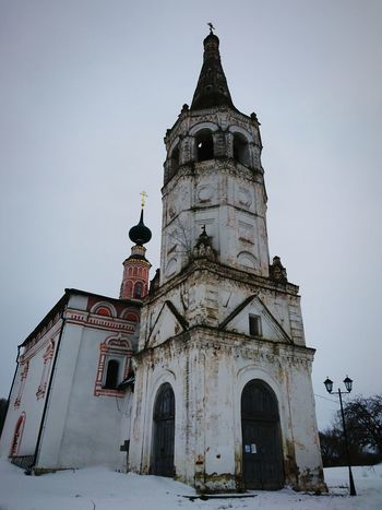 Architecture Travel Destinations Snow Religion Cold Temperature Place Of Worship Winter No People Sky History Building Exterior Outdoors Snowing Day Old Church Suzdal Winter Architecture Built Structure Tower Travel Nature City 3XSPUnity