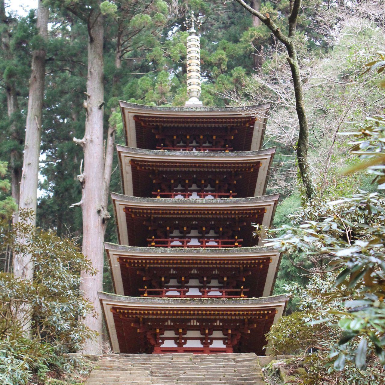 Japan Japanese Temple Japanesebeauty Temple No People Non-urban Scene Nara Five-storied Pagoda Murouji 室生寺 女人高野 奈良
