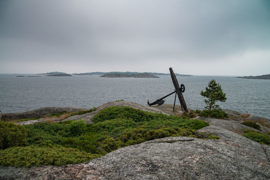Anchor Gulf Of Finland Horizon Over Water Nature Scenics Sea Storm Cloud Water