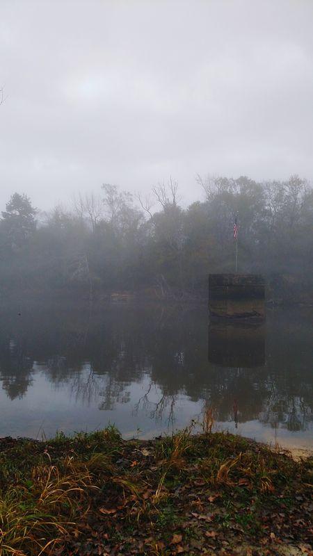 Early In The Morning Foggy Weather Foggy Morning Foggy River Bridge Pillar