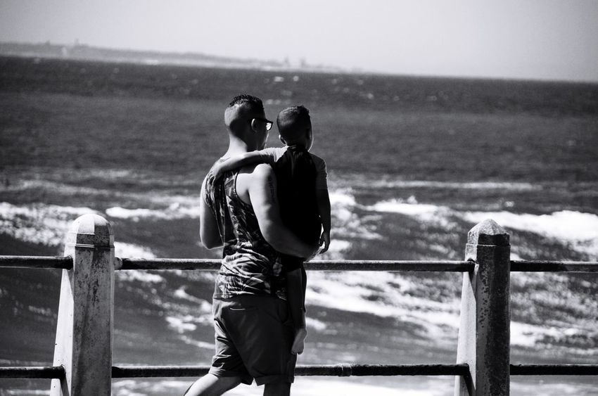 People Of The Oceans Monochrome Blackandwhite Photography Black & White Silhouettes Of People Silhouettes Silhouette_collection Father And Son Father And Daughter Father And Child FatherSonMoments Fatherhood  Father And Child Fatherslove Seapointpromenade Seapoint Capetown Cape Town, South Africa Family Time Familyfirst Father And Child By The Sea Father Carrying Child Fresh On Market June 2016