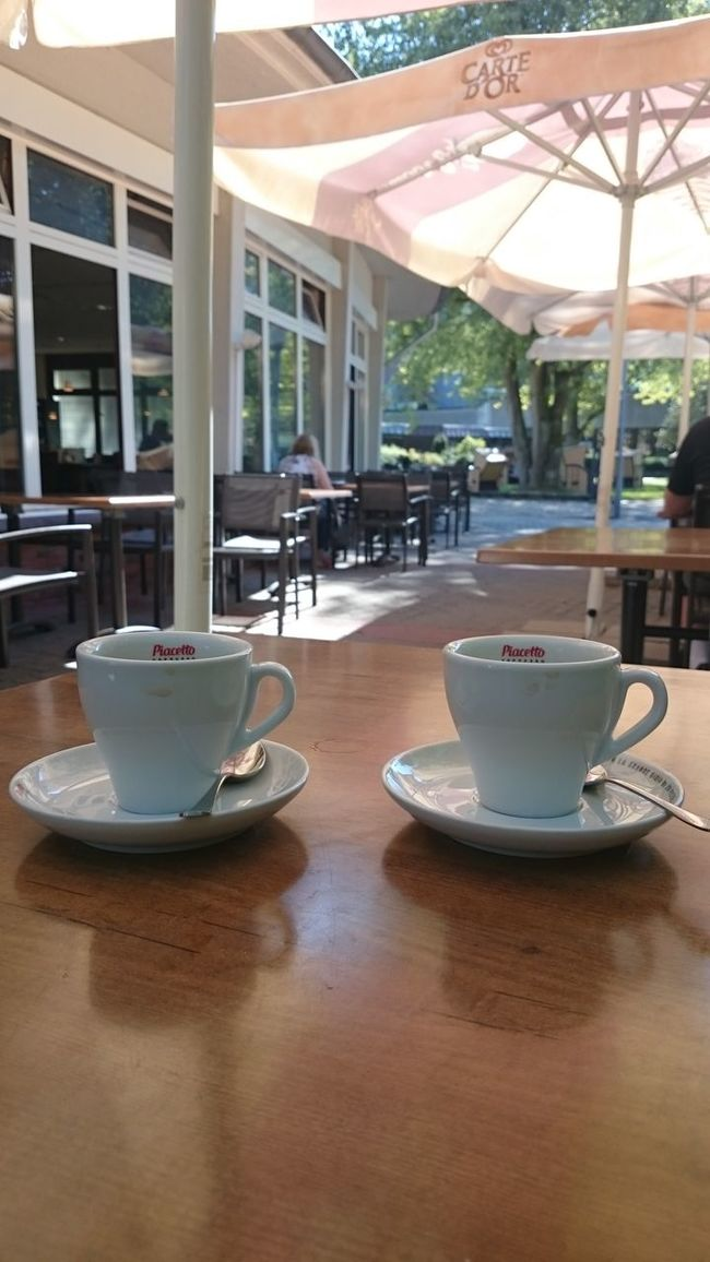 Two Is Better Than One Enjoying Life Cozy Drink Coffe Cozy Place Eyeemphotography Cups Parasol Outdoorlife