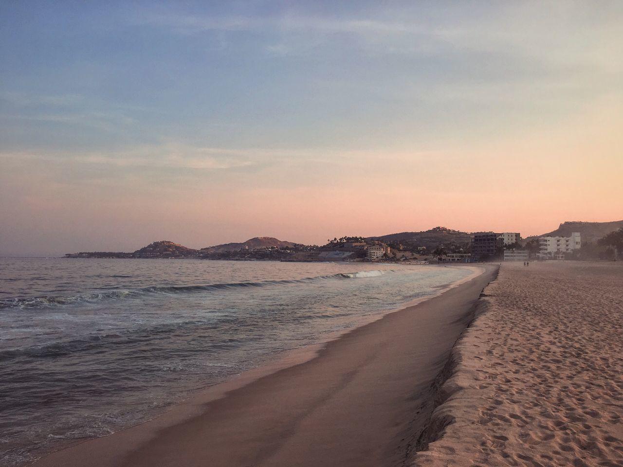 Beach Sunset Sand Sea Nature Scenics Beauty In Nature Water Wave
