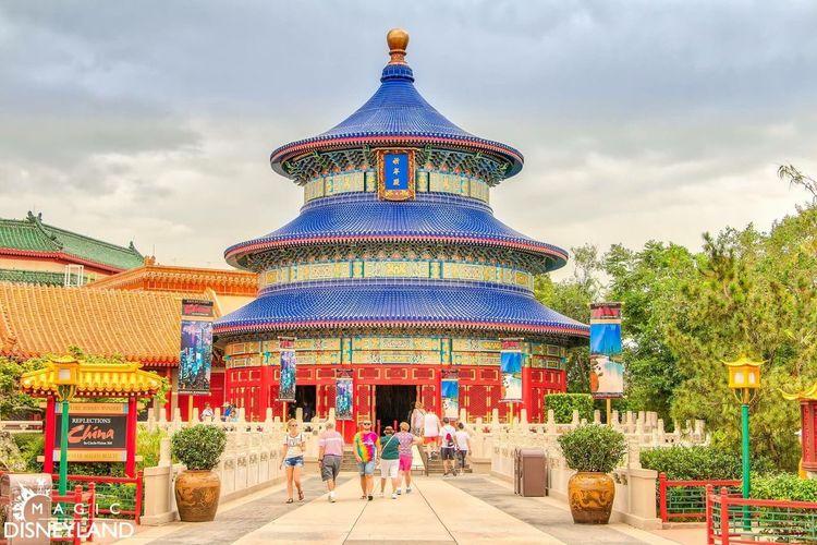 Cloud - Sky Architecture Sky Travel Destinations Built Structure Building Exterior Multi Colored Disneyland Enjoyment Amusement Park Epcot