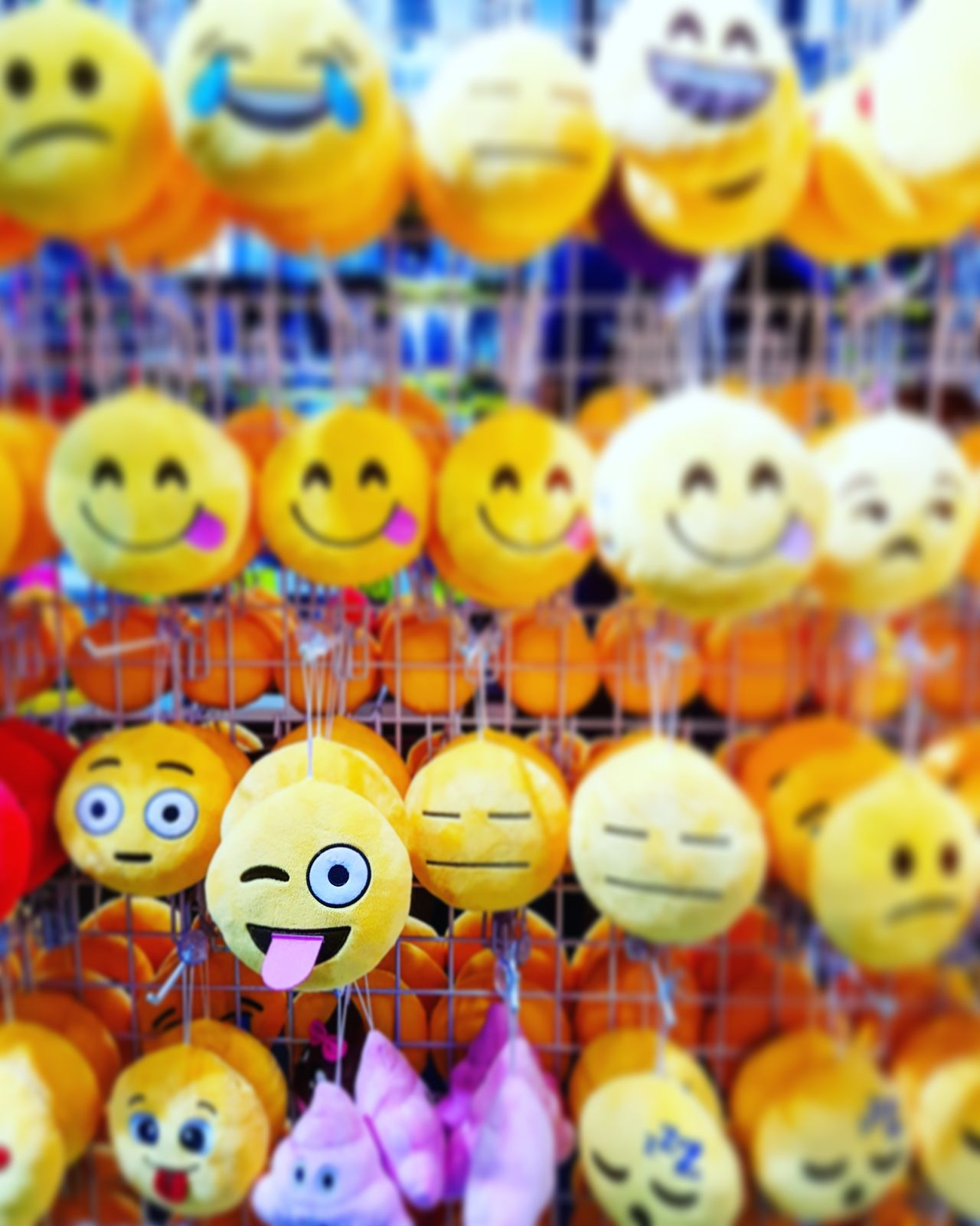 Large Group Of Objects Multi Colored Close-up No People Day Emojis Emoji VSCO S7edgephotography Smiley Tricky Faces Facialexpressions Adorable Happy Happiness Tounge Out  Tongueout Tongue Toys