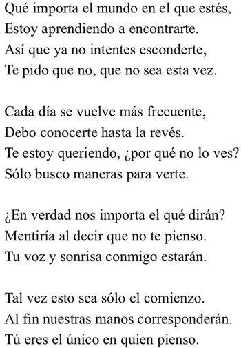Soneto II. Letras