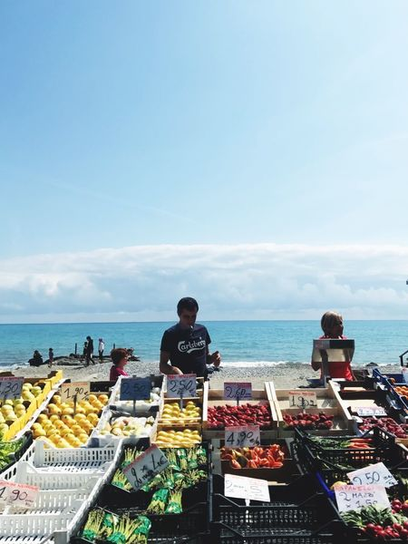 Food And Drink Sea Food Water Liguria Ocean View Ocean Seaside Market Farmers Market Text Men Sky Day Outdoors Leisure Activity Women Horizon Over Water Scenics Lifestyles Freshness Beauty In Nature Nature Ready-to-eat People
