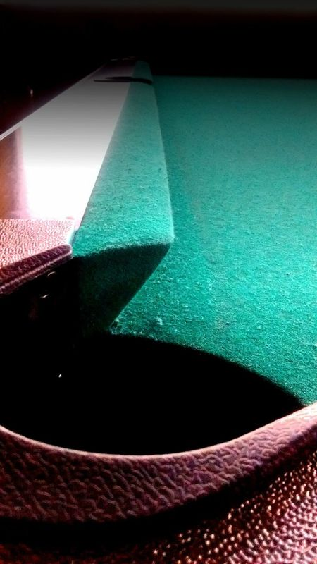 Hanging Out Check This Out Relaxing Enjoying Life Getting Inspired Corner Pocket Local Pub Sports Photography Woodwork  Rails Pocketshot Pooltable Felt Woodgrain Lines, Shapes And Curves Lines And Angles Angles Textures And Surfaces Sports Angleshot