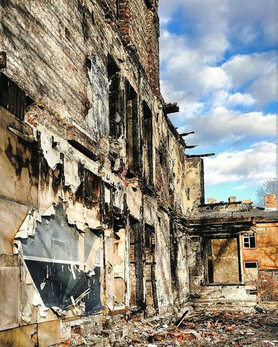 Architecture Building Exterior Built Structure Travel Destinations Sunlight Outdoors History No People Cityscape Day Tallinn Estonia Lifestyles Hdrphotography Damaged Bad Condition Ghosttown
