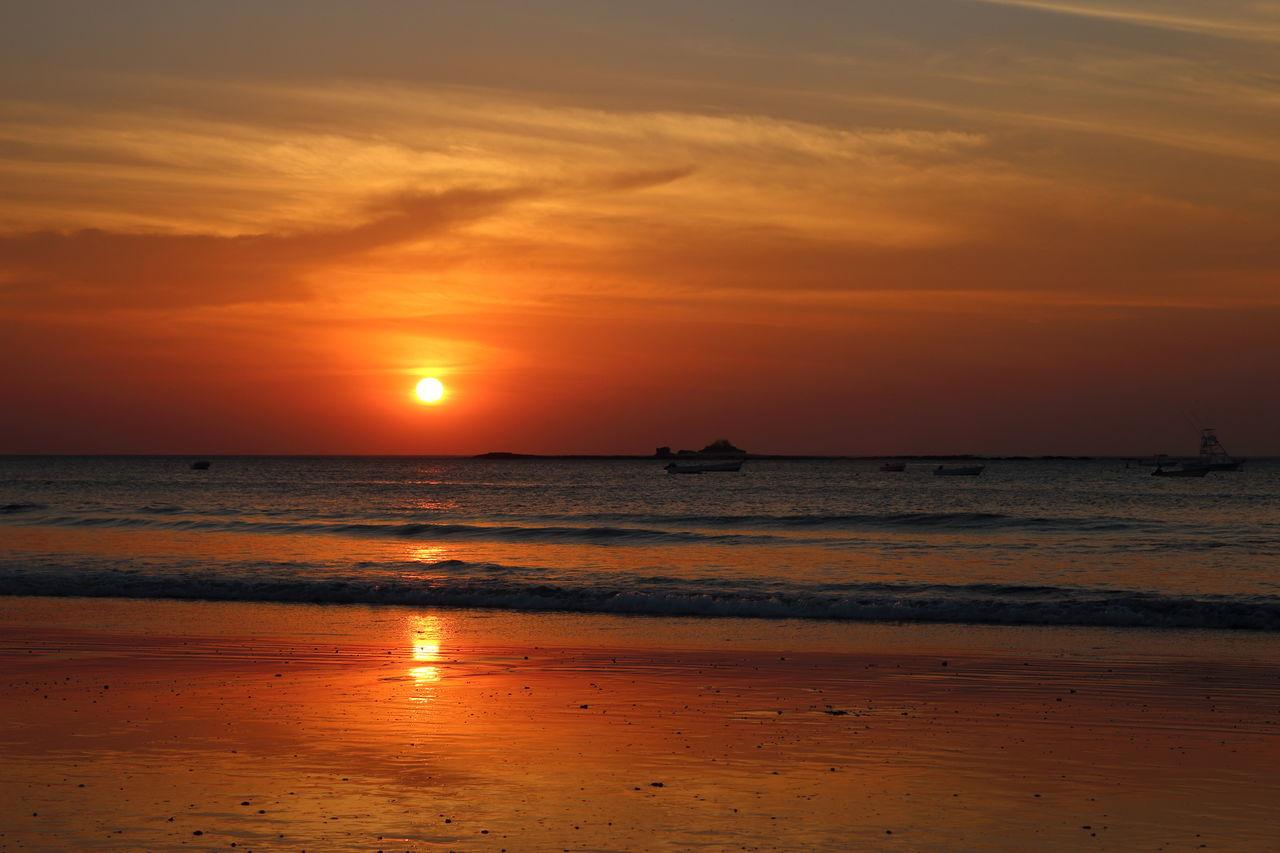 Sunset over Tamarindo beach Beach Beauty In Nature Costa Rica EyeEm Best Shots EyeEm Nature Lover EyeEmBestPics Horizon Over Water Idyllic Nature No People Orange Color Outdoors Scenics Sea Sky Sun Sunset Tourism Tranquil Scene Tranquility Travel Water Wave