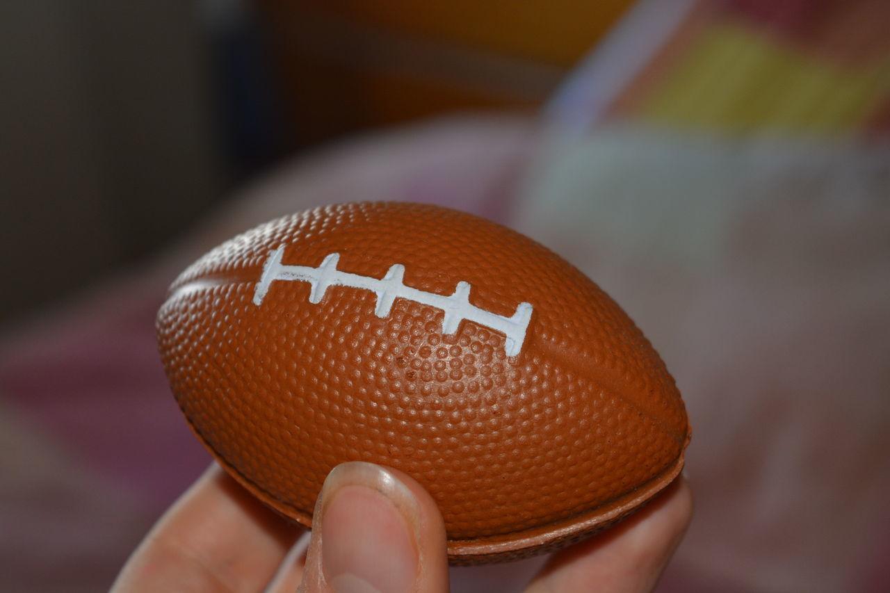 American Football Close-up Indoors  Miniature Football NFL Sport Still Life Zoom
