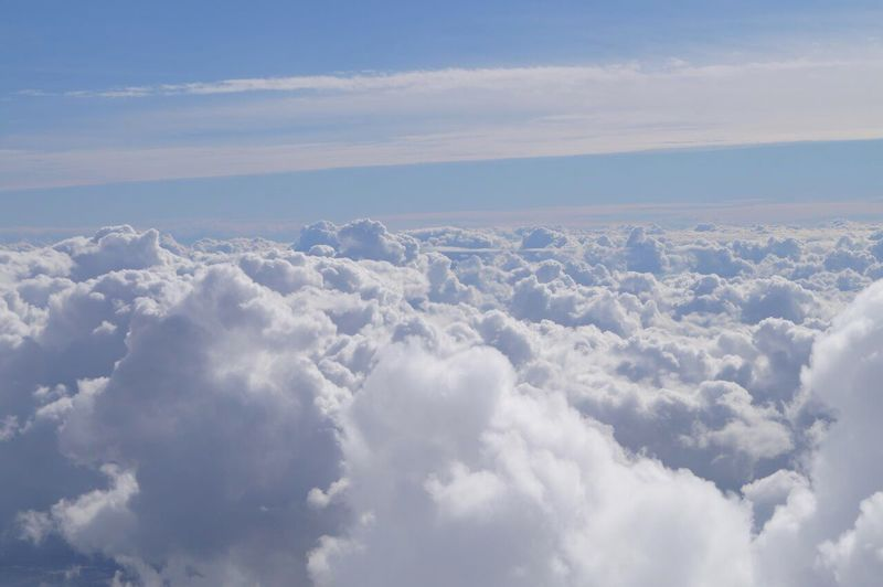 Cloud - Sky Nature Beauty In Nature Sky Cloudscape White Color Fun London Tourism Travel Great Britain Classtrip2016 Travel Destinations Sky Only Airplane Day