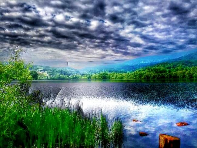 Caryville Tennessee Cove Lake State Park Summer 2016 Lake Clouds Cloudy Sky Taking Photos Hello World Relaxing Escaping Mountains Mountains In Background Mountains And Clouds Mountains And Water Colour Of Life