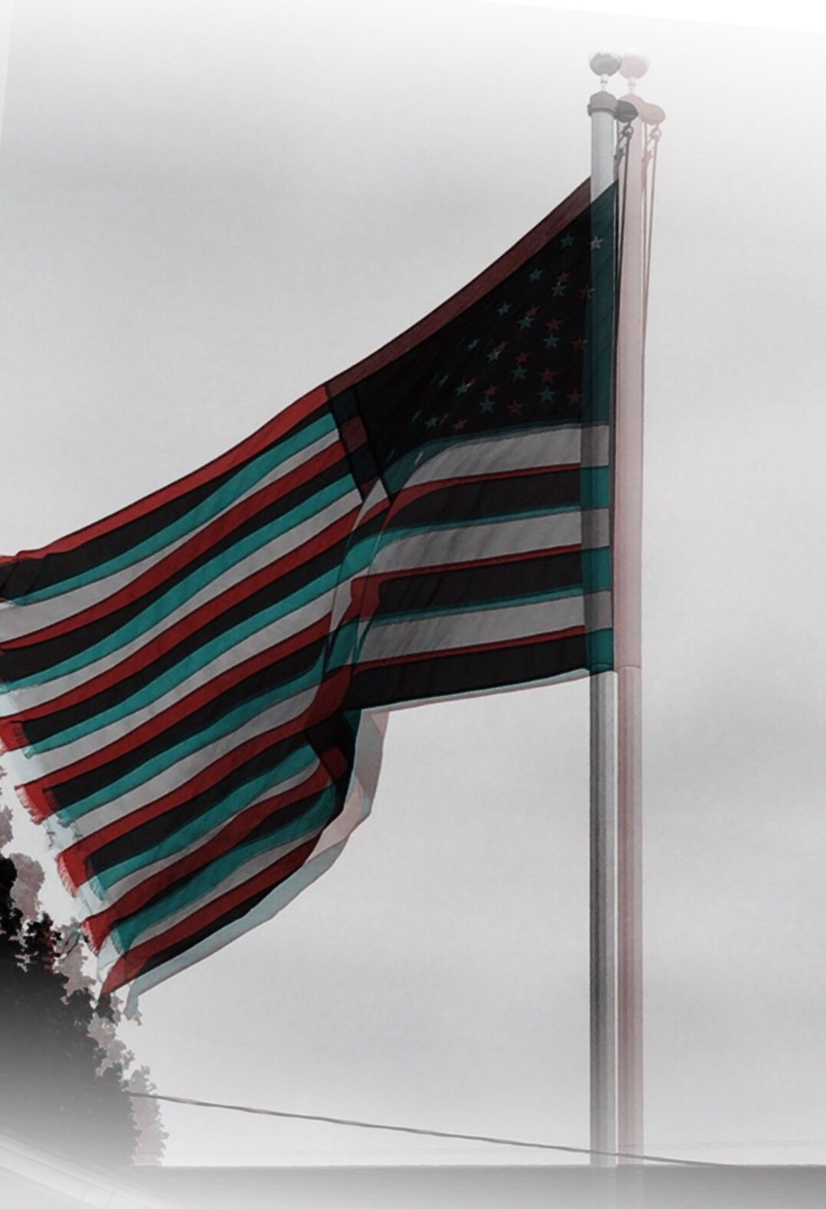flag, patriotism, striped, low angle view, stars and stripes, flag pole, outdoors, fluttering, no people, wind, pride, sky, day, close-up