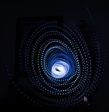 Electricity  Filament Playing With Light Technology Connection Illuminated No People Light Effect Long Exposure Light Lights Black Background Futuristic Vortex Spiral Chance Encounters My Year My View