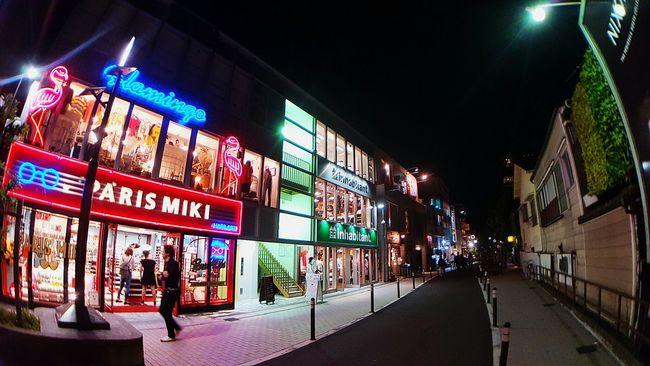 하라주쿠 일본 밤